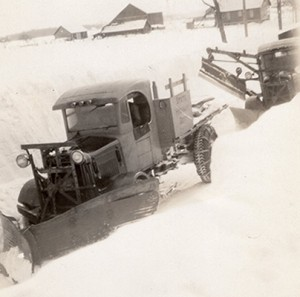old snowplowing